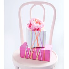 Boxed Ribbon Striped Gift Boxes, medium