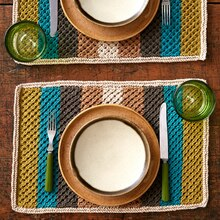 Lily® Sugar 'n Cream® Retro Stripes Knit Placemat, medium