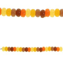 Bead Gallery Large Acrylic Rondelle Beads, Amber Mix, Close Up