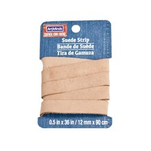 "Beige Suede Leather Strip by ArtMinds, 1/2"" x 36"""