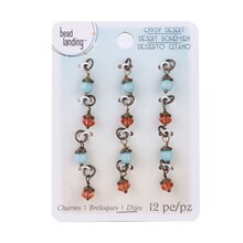 Gypsy Desert Turquoise & Topaz Charms by Bead Landing