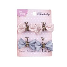 Pemberley Pink & Blue Bow Charms by Bead Landing