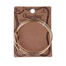 Charmalong Gold Bangles by Bead Landing