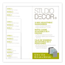 Studio DéŽcor 4-Way Adjustable Shadowbox