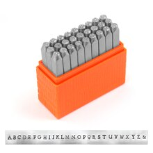 ImpressArt Basic Newsprint Letter Stamps, Uppercase