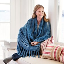 Loops & Threads® Woolike™ Fringed Wrap, medium
