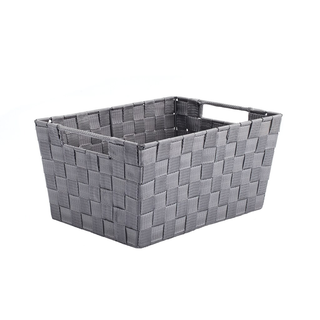 Find the Gray Nylon Tapered Storage Basket With Handle Cutouts by ...