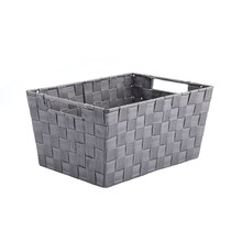 Gray Nylon Tapered Storage Basket With Handle Cutouts by Ashland