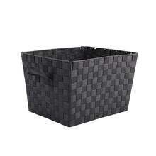 Large Black Nylon Tapered Storage Basket by Ashland
