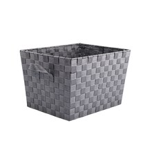 Large Gray Nylon Tapered Storage Basket by Ashland