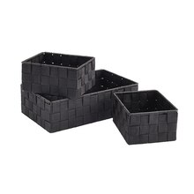 Black Nylon Storage Basket Set by Ashland