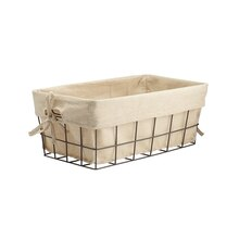 Metal Wire Storage Basket with Liner by Ashland, Small