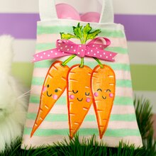Li'l Carrot Bunch Easter Tote, medium