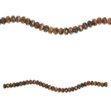 Bead Gallery Czech Glass Faceted Beads, Amber Swirl