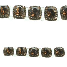 Bead Gallery Small Square Metal Sliders, Amber