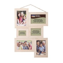Unfinished Wood Collage Frame by ArtMinds, 6 Openings