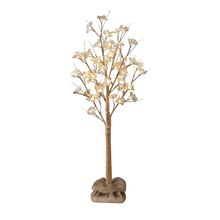 Apothecary & Company Magnolia Blossoms LED Tree with Burlap Base, 4 ft.