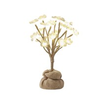 Apothecary & Company Magnolia Blossoms LED Tree with Burlap Base, 1 ft.