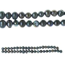 Bead Gallery Potato Freshwater Pearl Beads, Black
