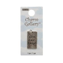 Charm Gallery Silver Plated Charm, Live Love Laugh