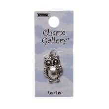 Charm Gallery Silver Plated Owl Charm