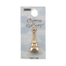 Charm Gallery 14K Gold Plated Charm, Eiffel Tower
