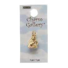 Charm Gallery 14K Gold Plated Charm, Laughing Buddha