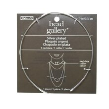 Bead Gallery Thick Silver Plated Necklace, 14""
