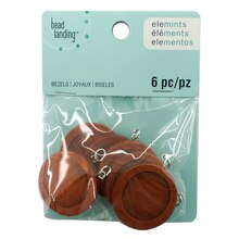 Elemints Round Wood Bezels by Bead Landing