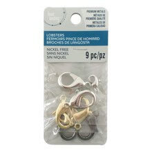 Assorted Metal Lobster Clasps by Bead Landing, 12 mm & 23 mm