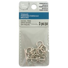 Small Rhodium Toggle Clasps by Bead Landing