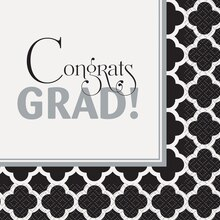 Quatrefoil Graduation Luncheon Napkins, 16ct