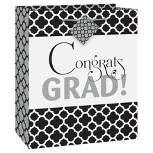 Medium Quatrefoil Graduation Gift Bag
