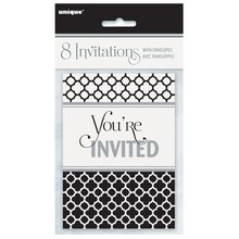 Quatrefoil Graduation Invitations, 8ct
