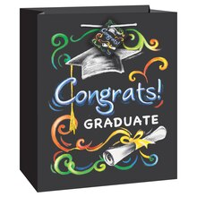 Medium Chalkboard Graduation Gift Bag
