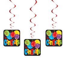 Hanging Balloons Congratulations Decorations, 3ct