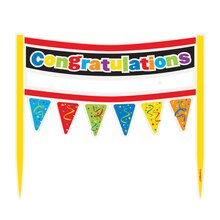 Cardboard Rainbow Congratulations Cake Bunting Topper