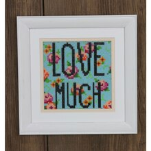Perler® Mini Beads™ Floral LOVE MUCH Framed Art, medium