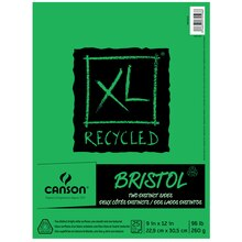 """Canson XL Recycled Bristol Pad, 9"""" x 12"""""""