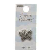 Charm Gallery Silver Plated Charm, Butterfly