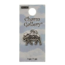 Charm Gallery Silver Plated Charm, Elephant