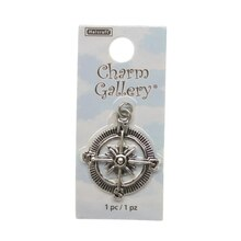 Charm Gallery Silver Plated Charm, Compass