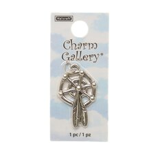 Charm Gallery Silver Plated Charm, Dreamcatcher