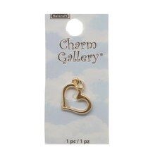 Charm Gallery 14K Gold Plated Charm, Heart