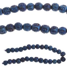 Bead Gallery Round Ceramic Beads, Blue