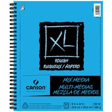 "Canson XL Rough Mix Media Pad, 9"" x 12"""