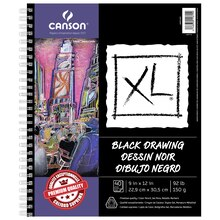 "Canson XL Black Drawing Pad, 9"" x 12"""