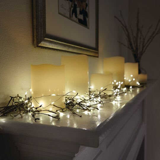 Find the Apothecary & Company Decorative String Light with Timer, Warm White at Michaels