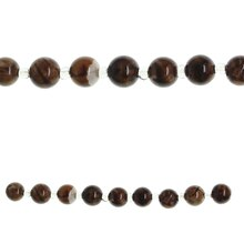 Bead Gallery Round Agate Stone Beads, Amber