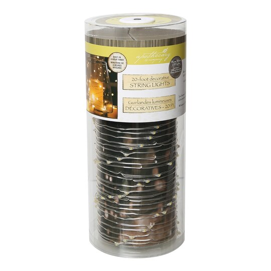 Michaels Led String Lights : Buy the Apothecary & Company Silver Decorative Micro LED String Lights, 20 ft. at Michaels